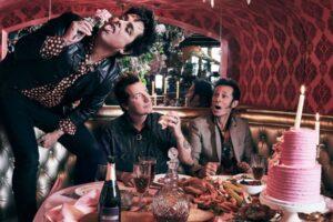 Green Day foto gruppo cibo tavola
